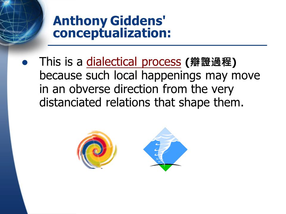 Anthony Giddens conceptualization: