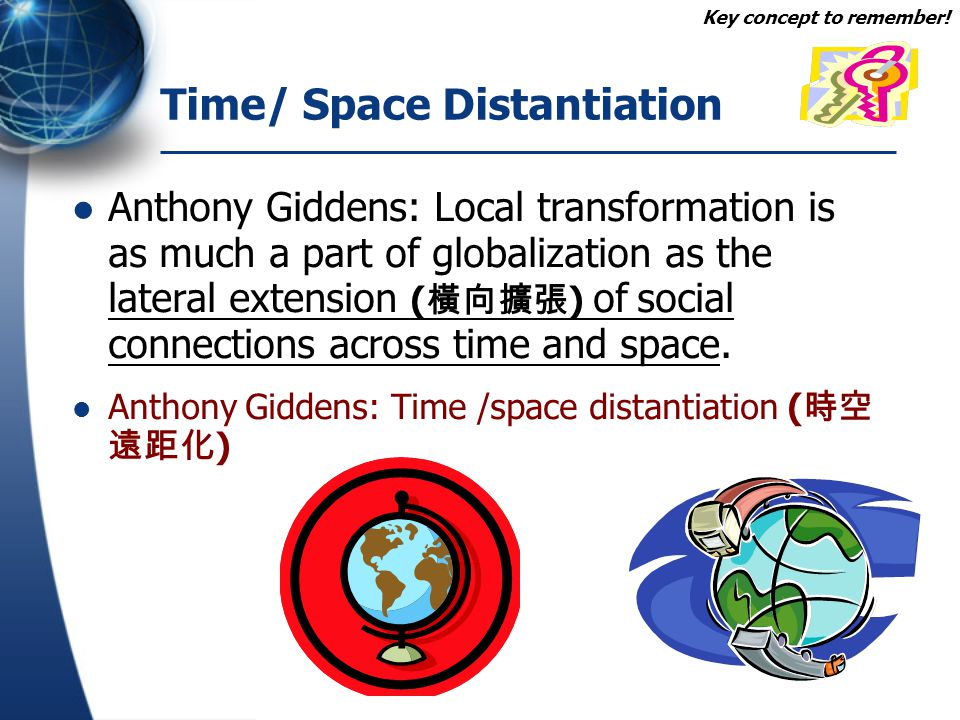 Time/ Space Distantiation