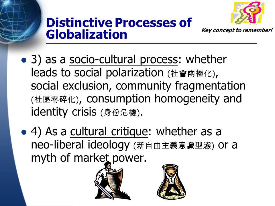 Distinctive Processes of Globalization