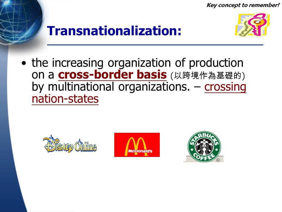 Transnationalization: