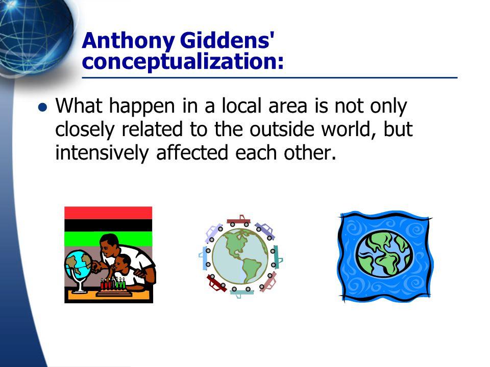 Anthony Giddens conceptualization: