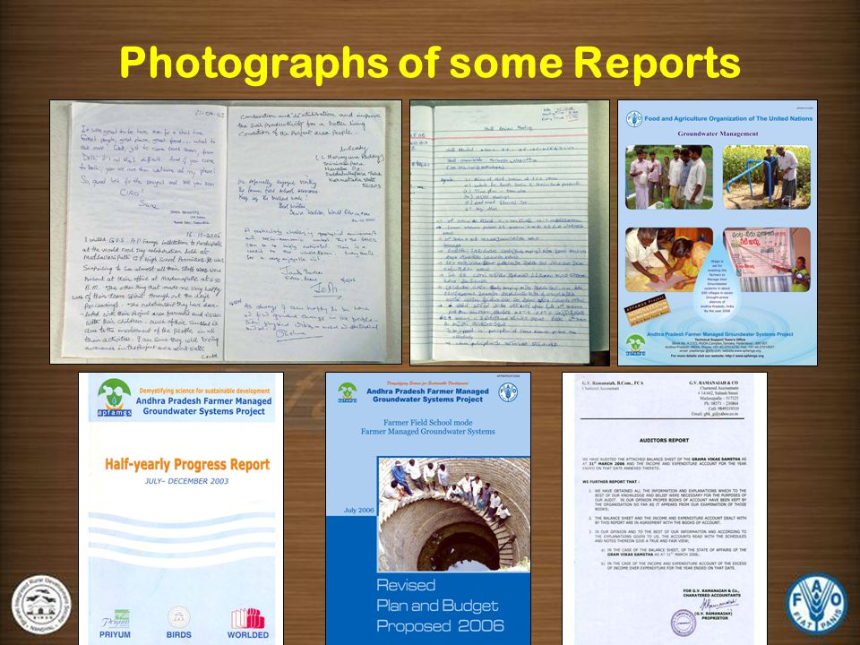 Photographs of some Reports