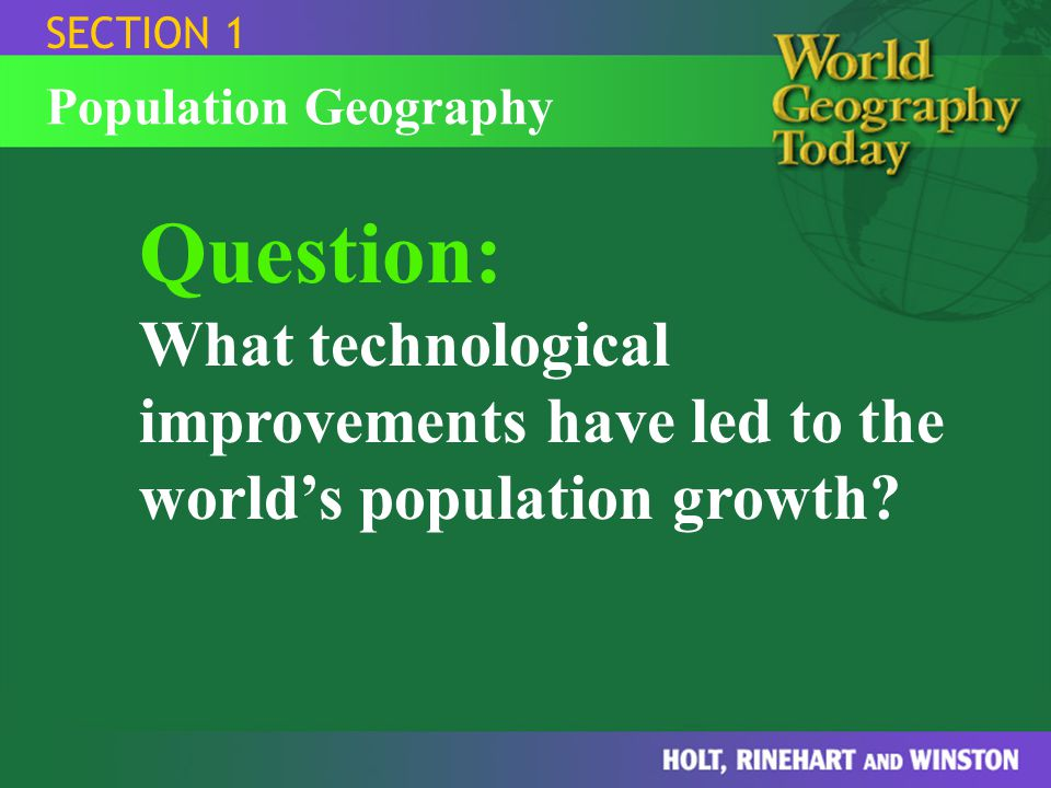 SECTION 1 Population Geography.