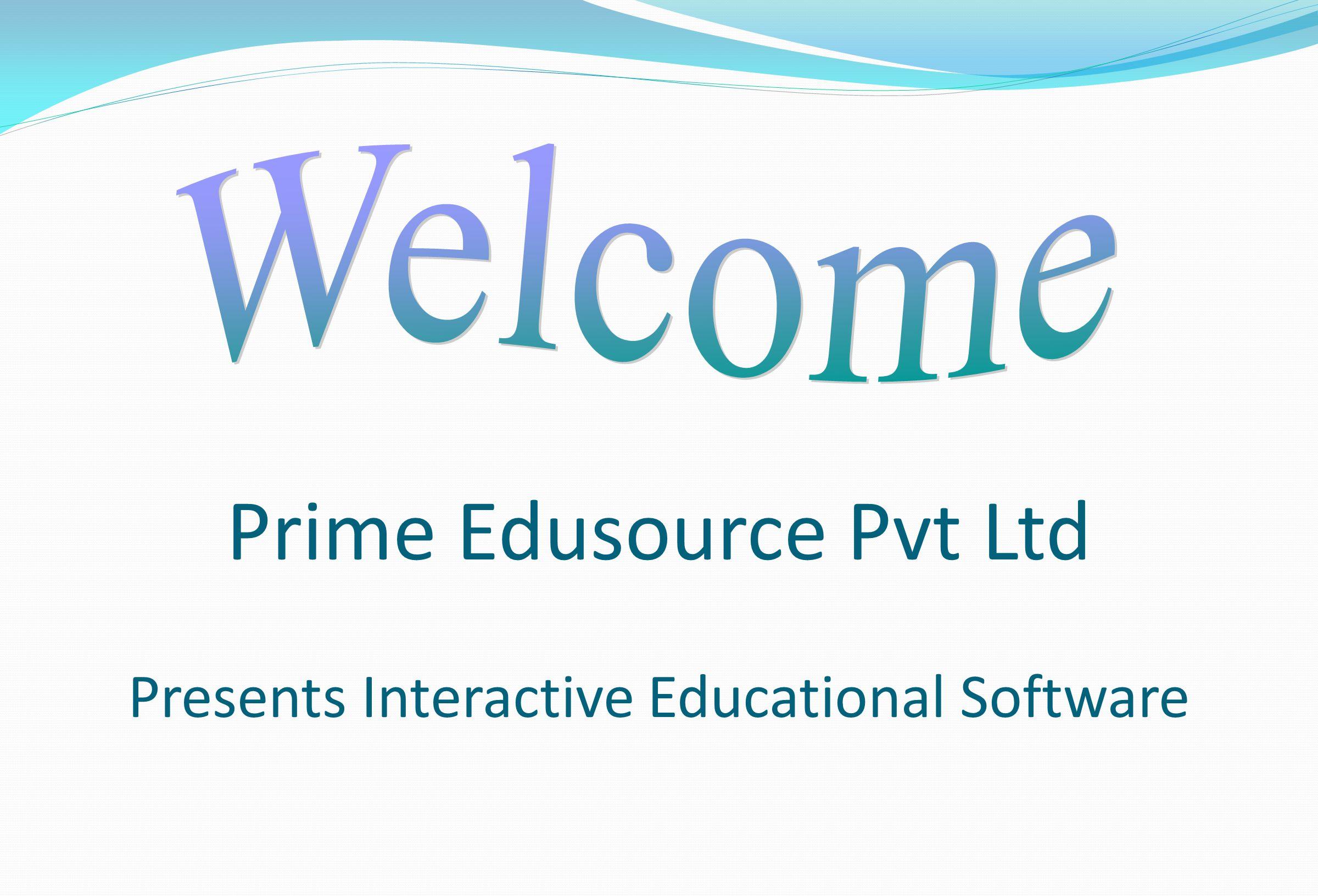 Prime Edusource Pvt Ltd Presents Interactive Educational Software