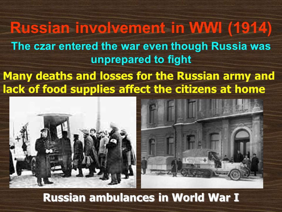Russian involvement in WWI (1914)