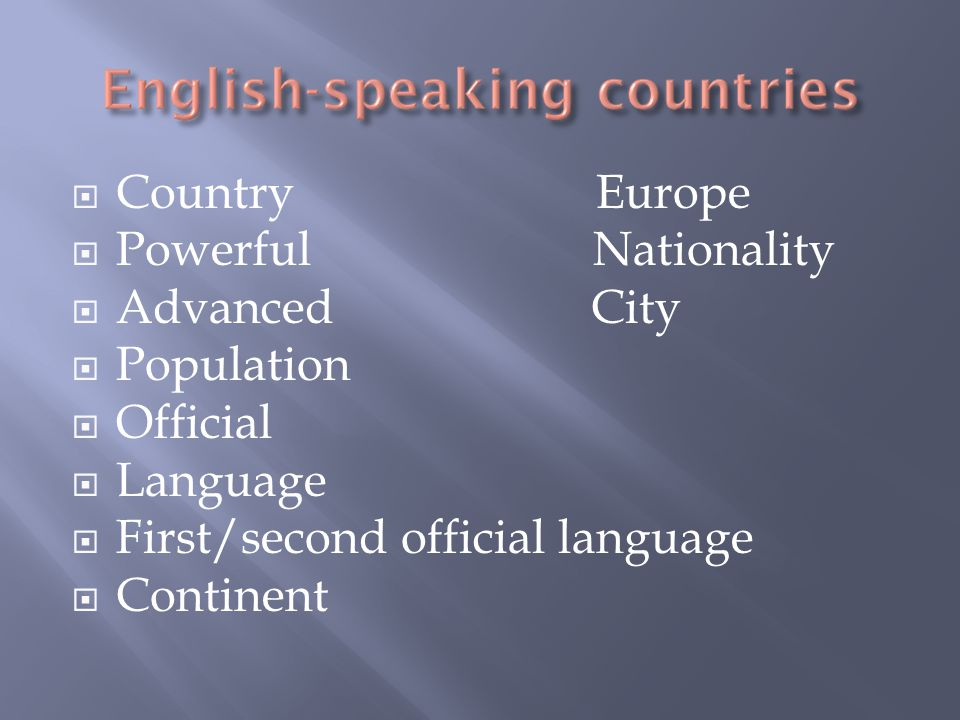 Country Europe Powerful Nationality. Advanced City.