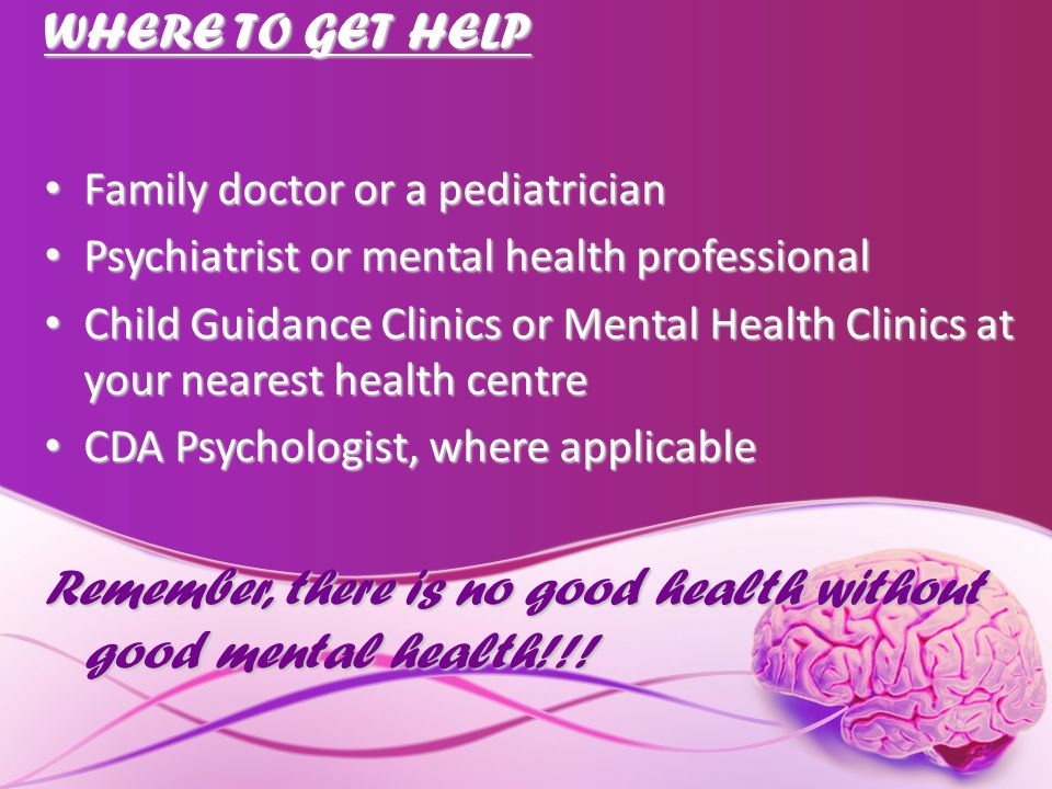 Remember, there is no good health without good mental health!!!