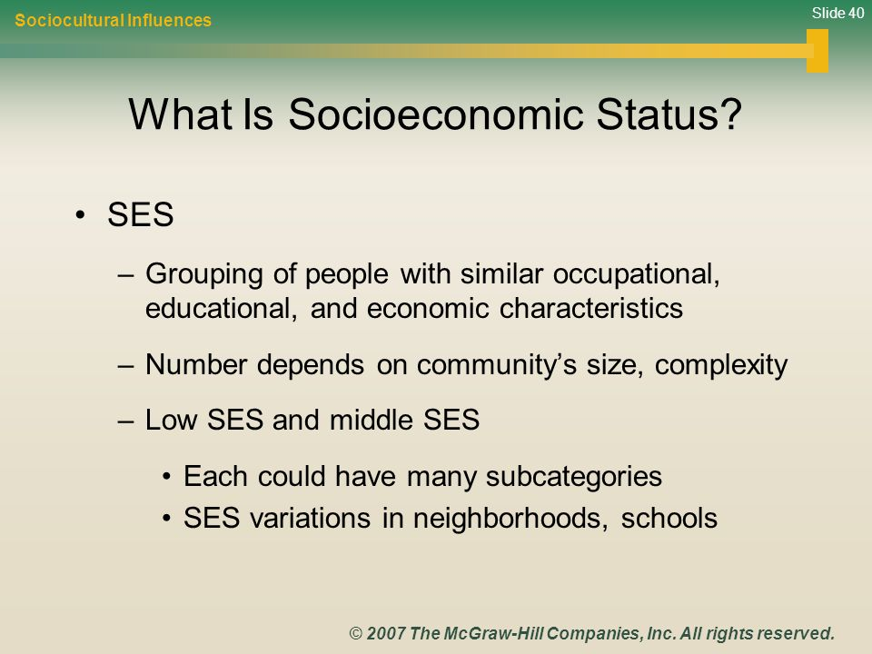 What Is Socioeconomic Status