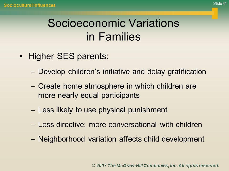 Socioeconomic Variations in Families