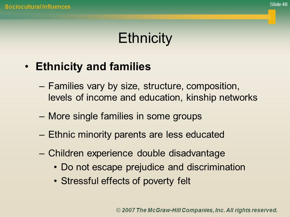 Ethnicity Ethnicity and families