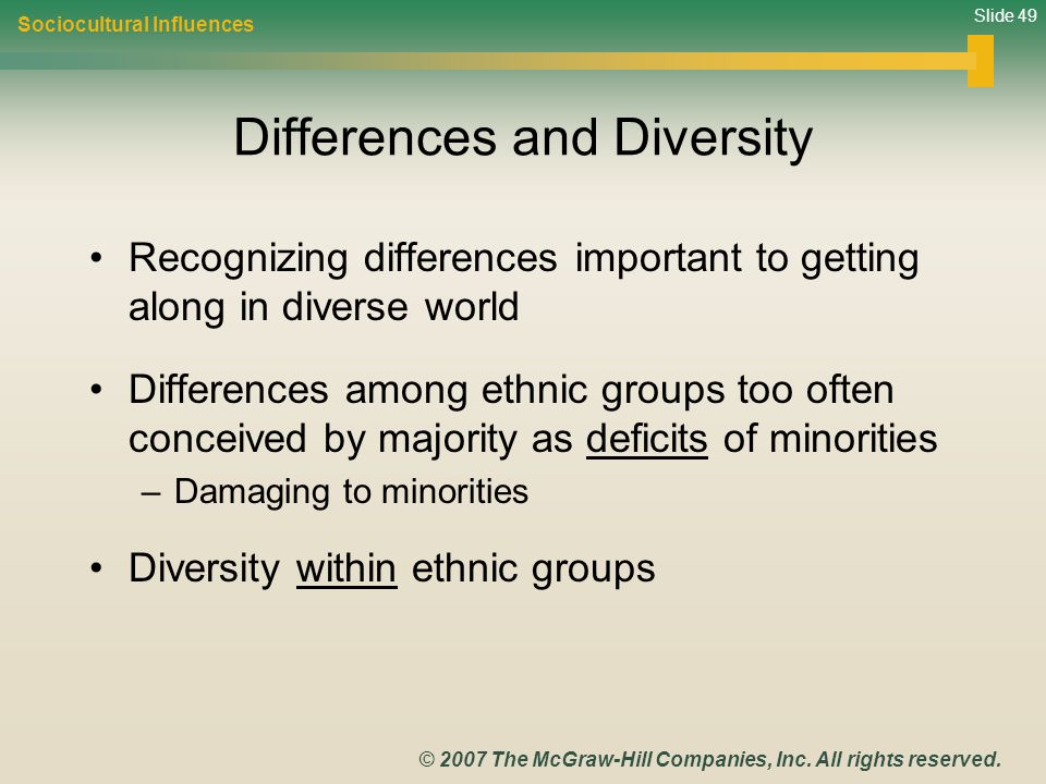 Differences and Diversity