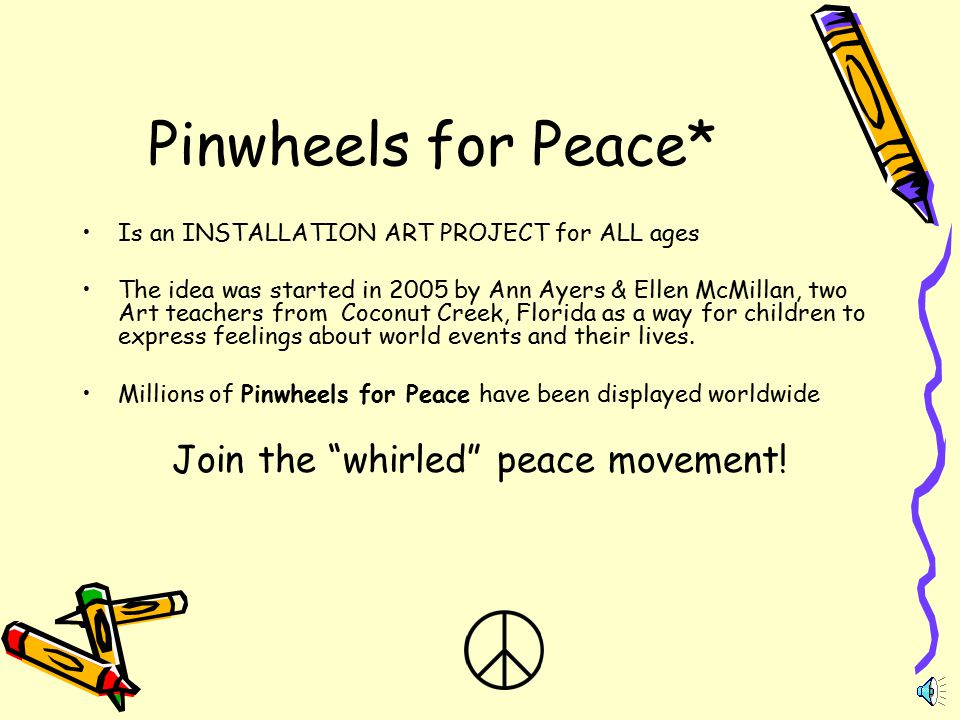 Join the whirled peace movement!