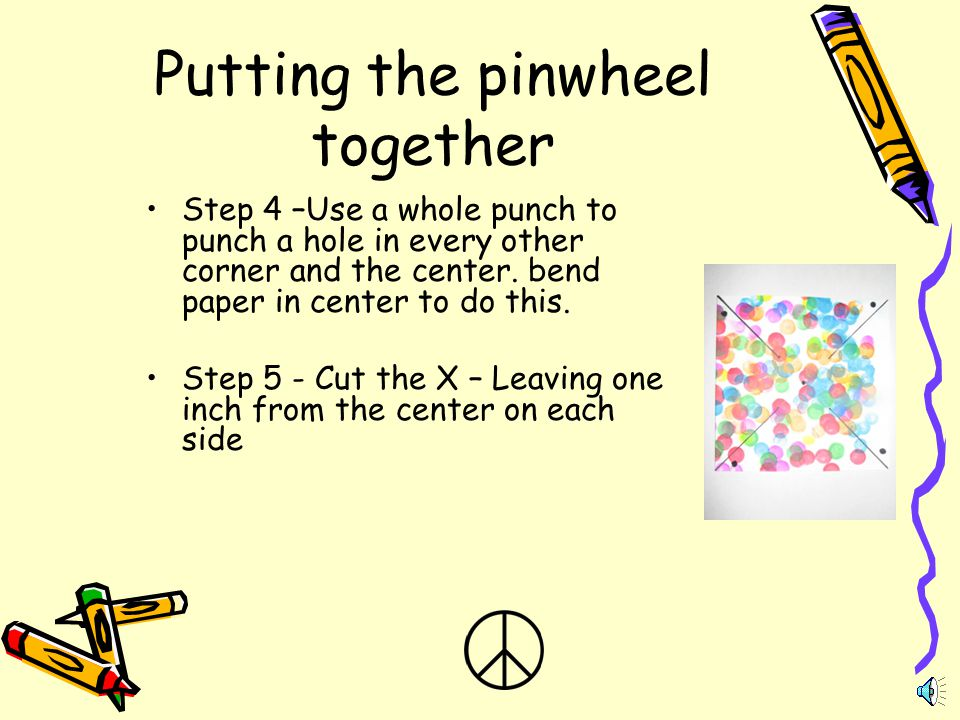 Putting the pinwheel together
