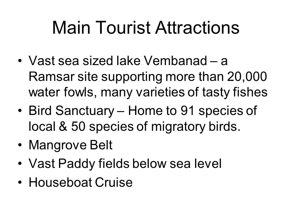 Main Tourist Attractions
