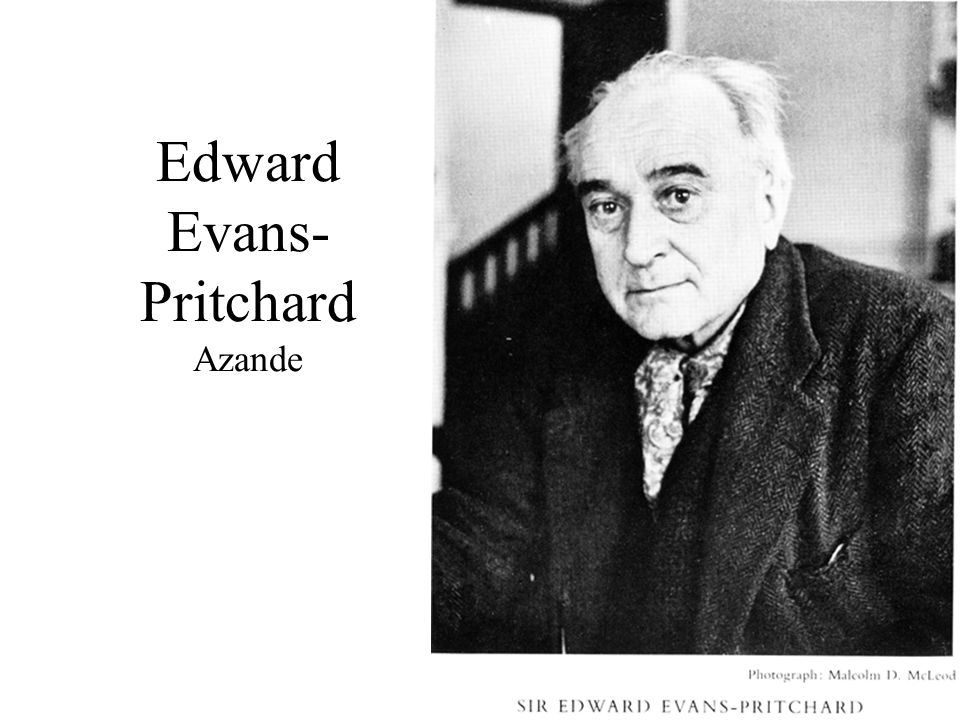 Edward Evans-Pritchard Azande