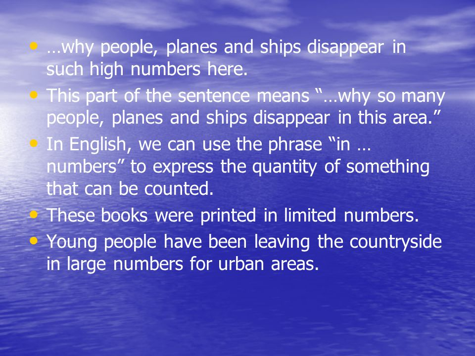 …why people, planes and ships disappear in such high numbers here.