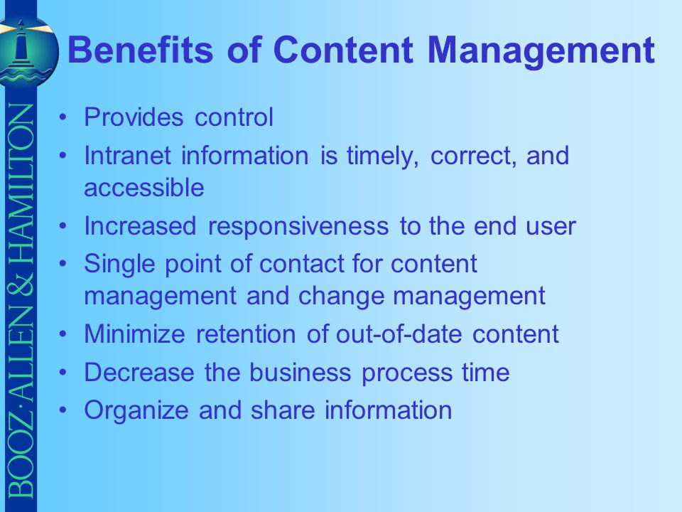 Benefits of Content Management