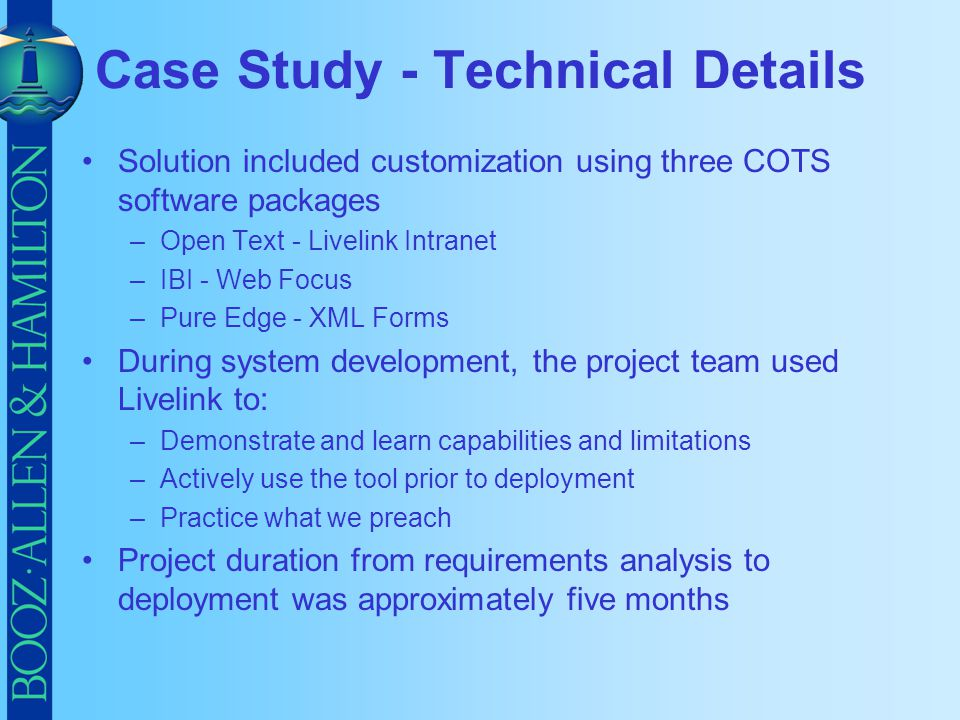 Case Study - Technical Details