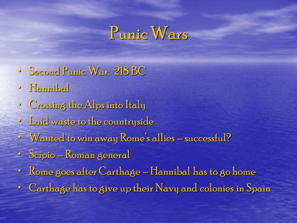Punic Wars Second Punic War: 218 BC Hannibal