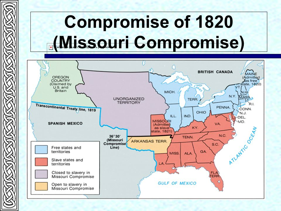 Compromise of 1820 (Missouri Compromise)