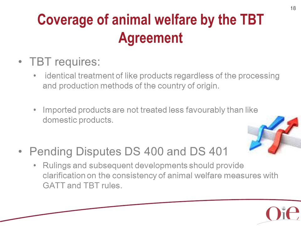Coverage of animal welfare by the TBT Agreement