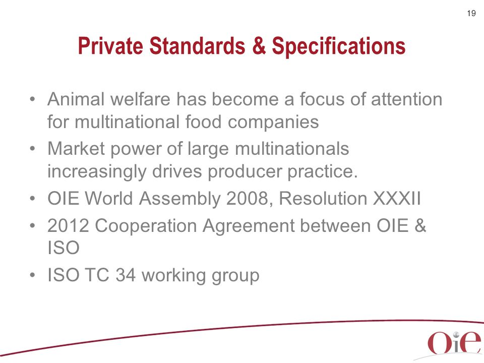 Private Standards & Specifications