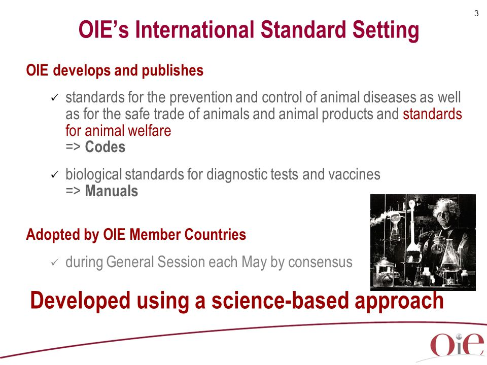 OIE's International Standard Setting