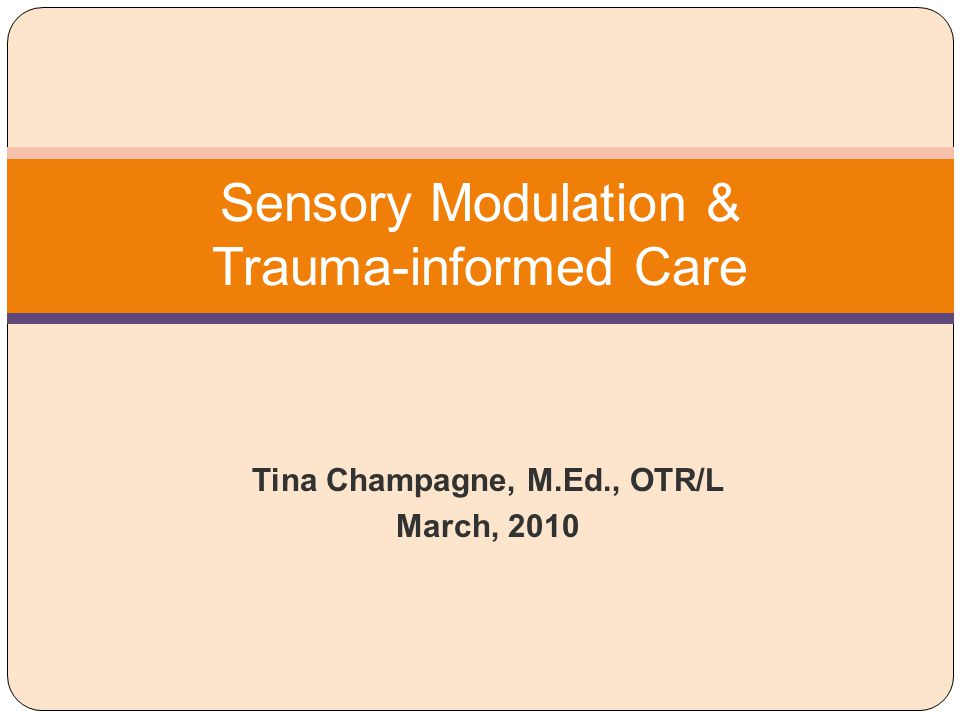 Sensory Modulation & Trauma-informed Care