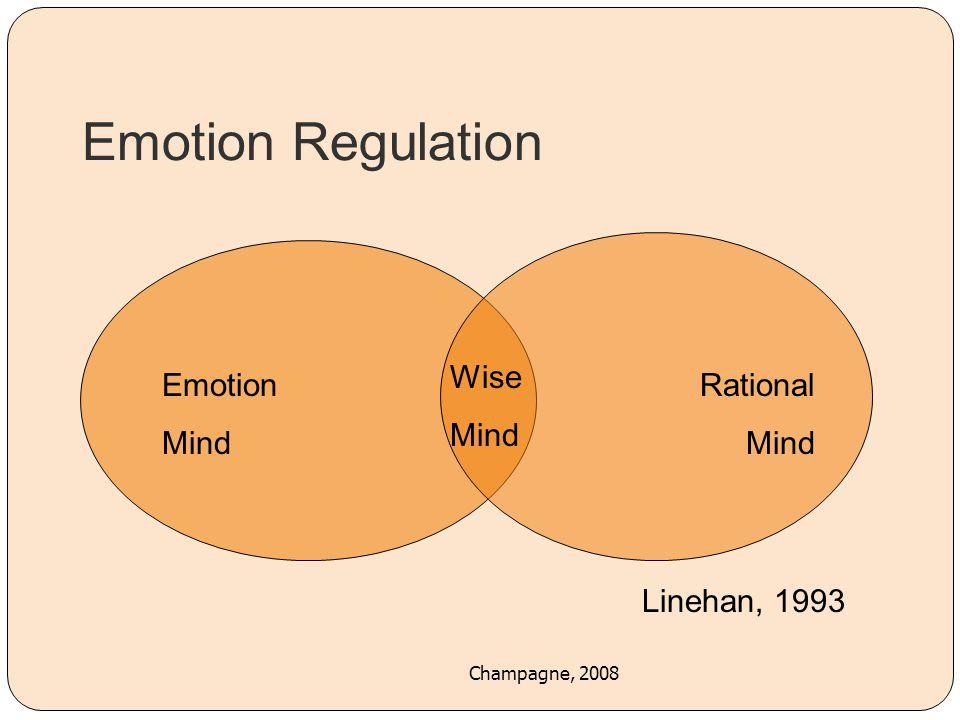 Emotion Regulation Wise Mind Emotion Mind Rational Mind Linehan, 1993