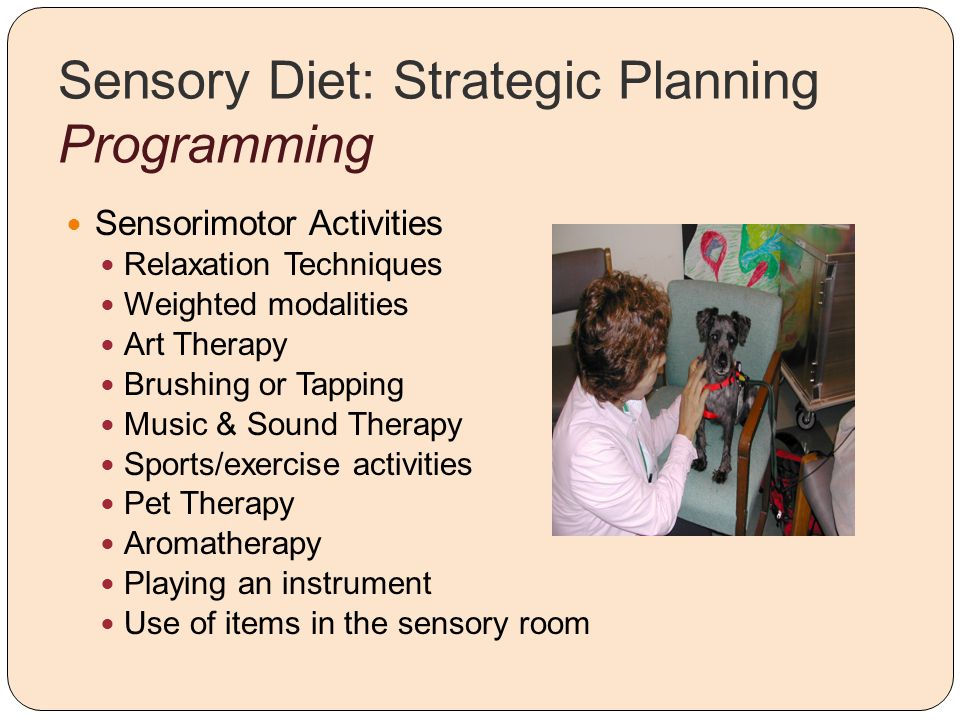 Sensory Diet: Strategic Planning Programming