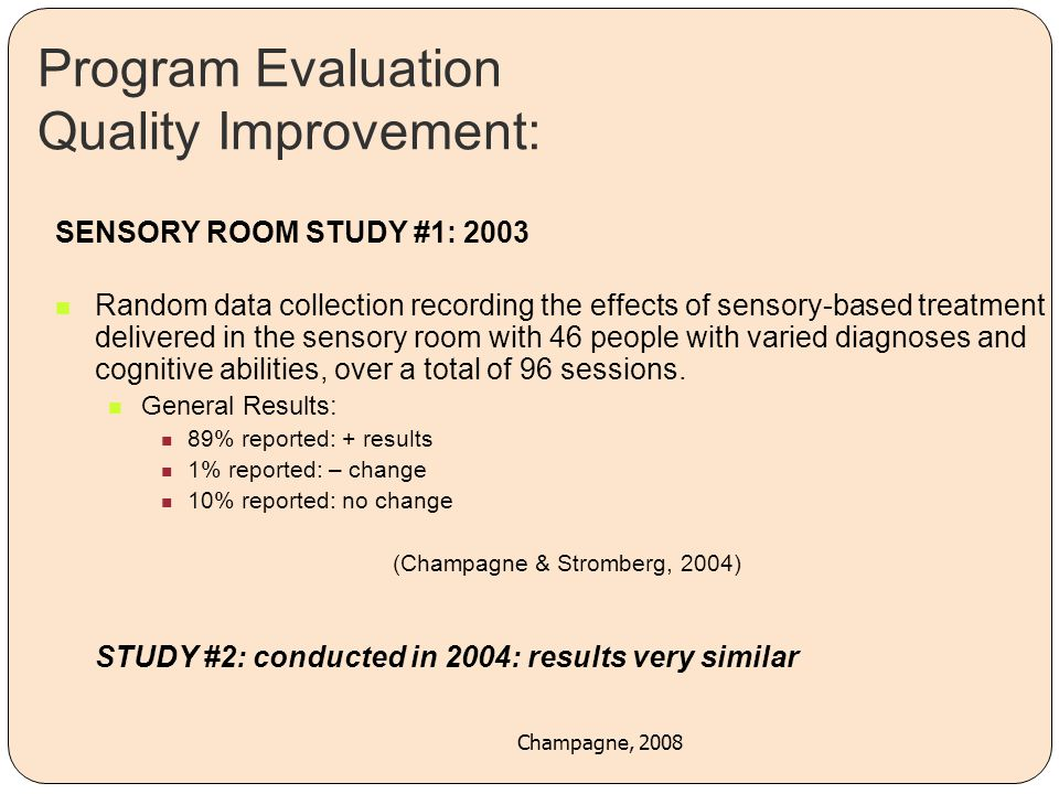 Program Evaluation Quality Improvement: