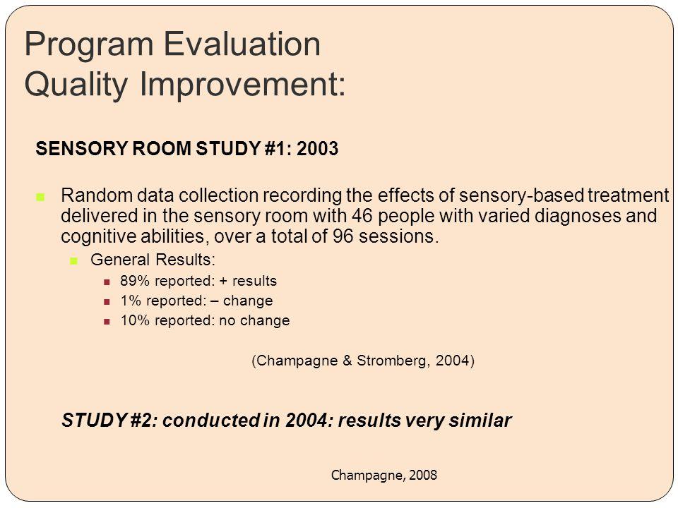 Program Evaluation Quality Improvement: