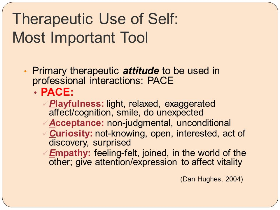 Therapeutic Use of Self: Most Important Tool