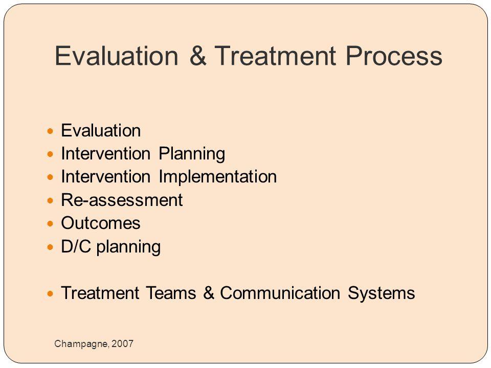 Evaluation & Treatment Process