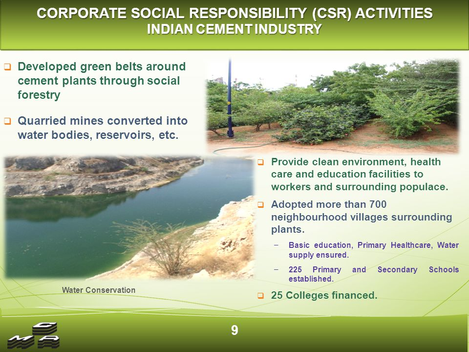 CLEAN ENVIRONMENT AND SOCIAL COMMITMENT INDIAN CEMENT INDUSTRY