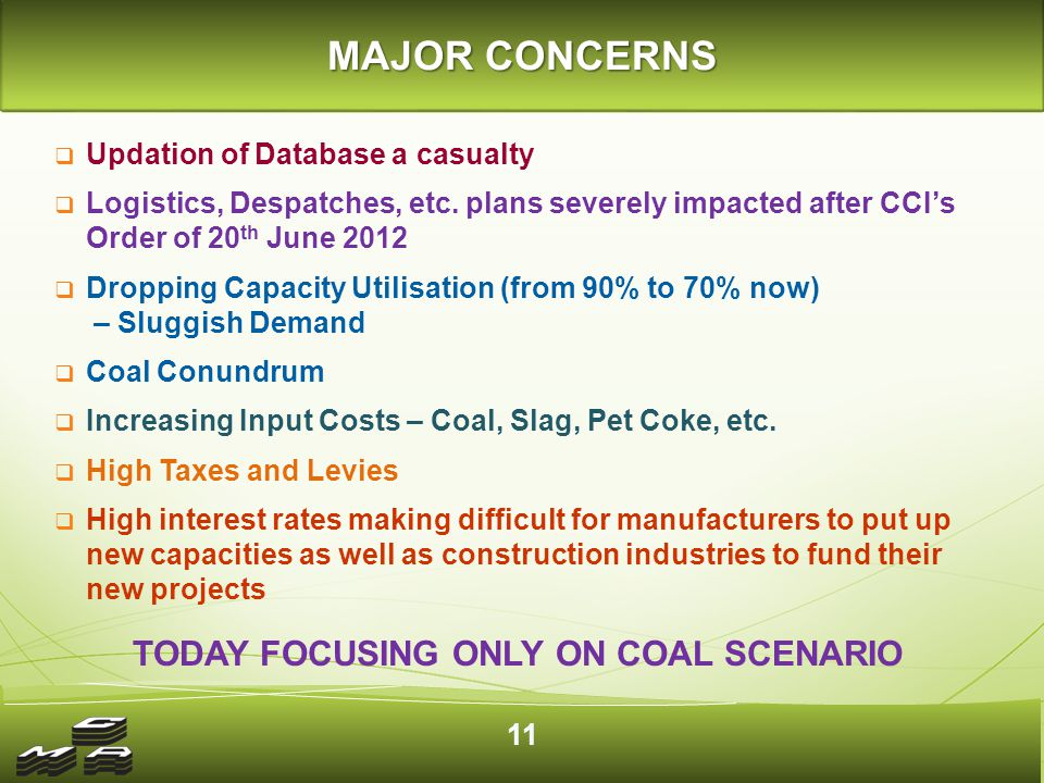 Status of Indian Coal India is the third largest coal producer.
