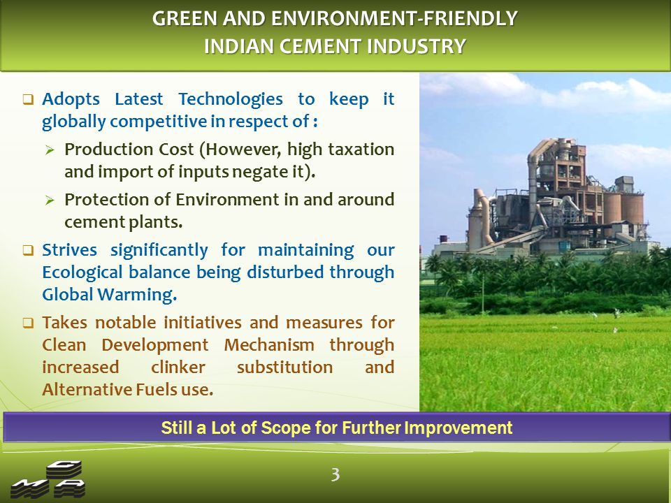 TOWARDS TECHNOLOGY & ENERGY EFFICIENCY INDIAN CEMENT INDUSTRY