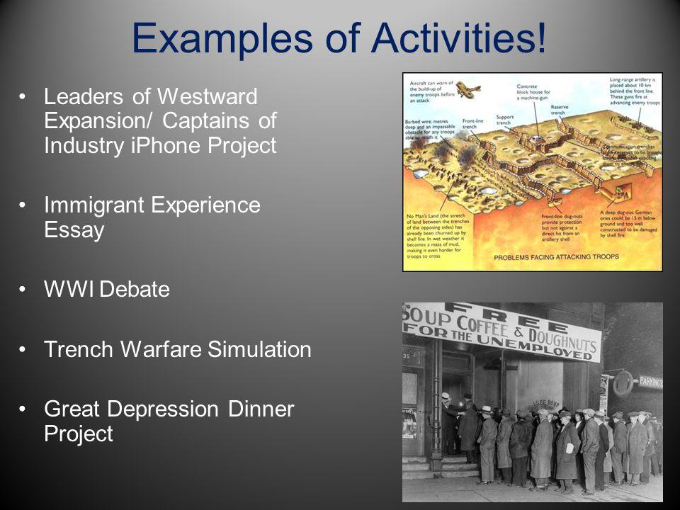 Examples of Activities!