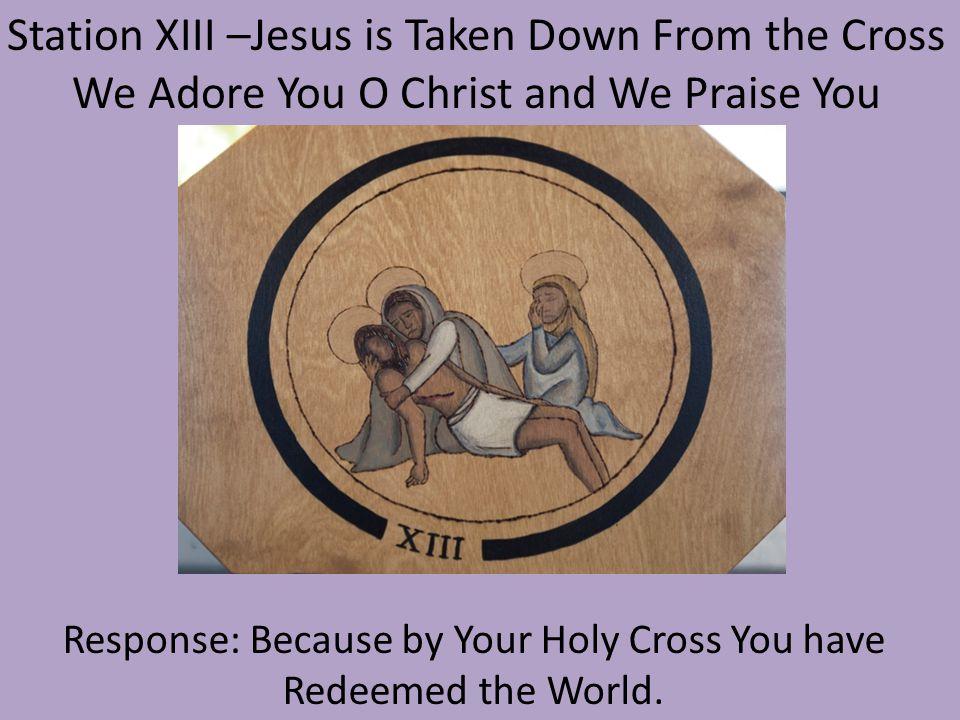 Station XIII –Jesus is Taken Down From the Cross