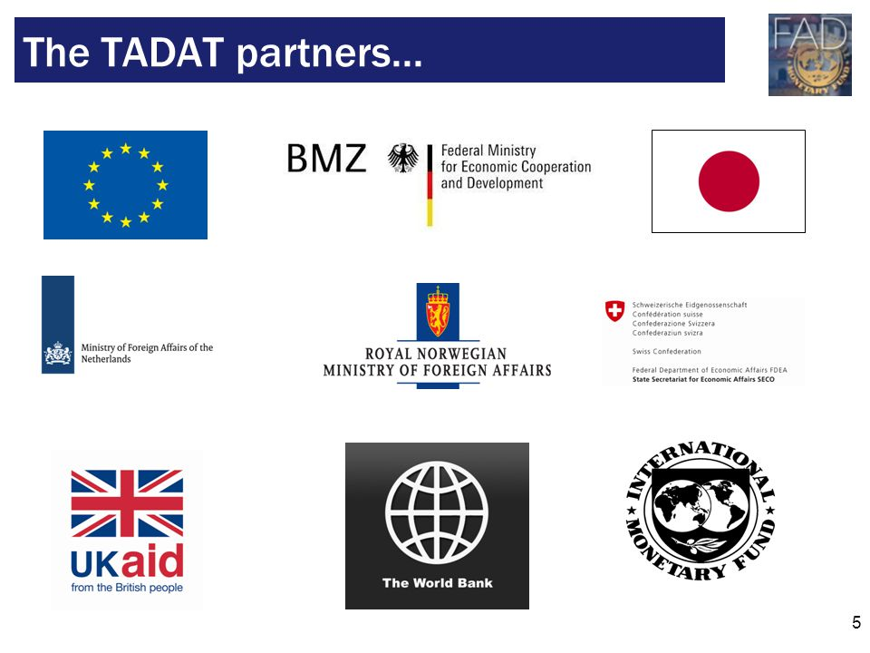The TADAT partners...