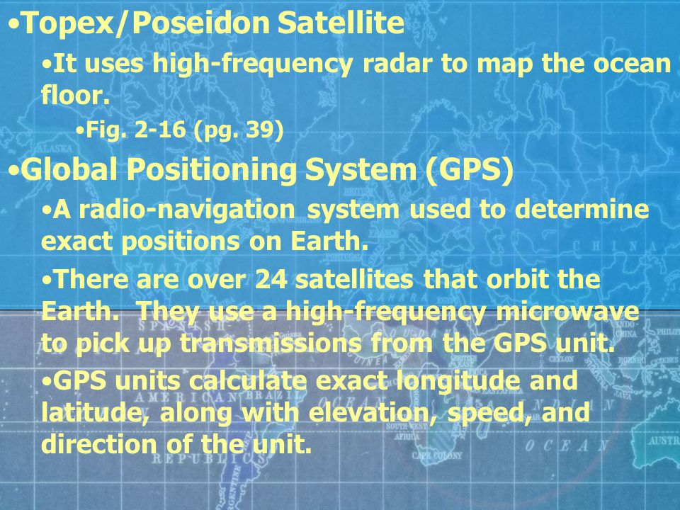 Topex/Poseidon Satellite