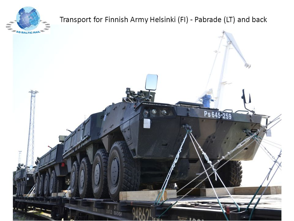 Transport for Finnish Army Helsinki (FI) - Pabrade (LT) and back