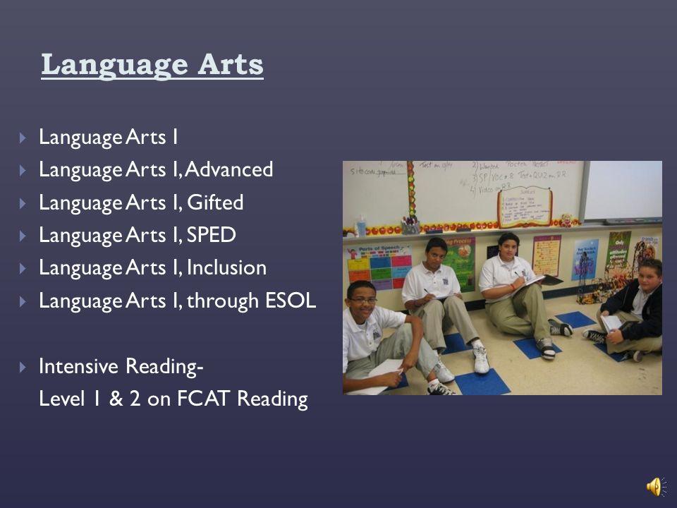 Language Arts Language Arts I Language Arts I, Advanced