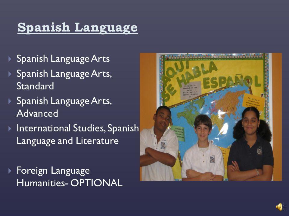 Spanish Language Spanish Language Arts Spanish Language Arts, Standard