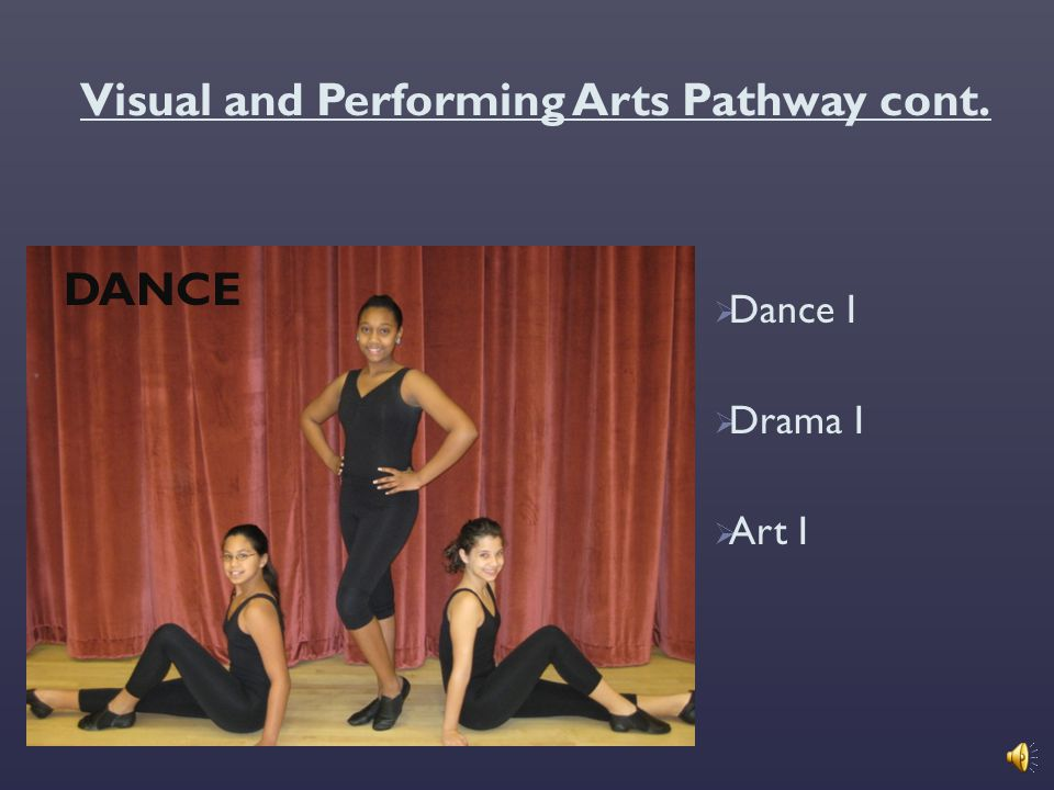 Visual and Performing Arts Pathway cont.
