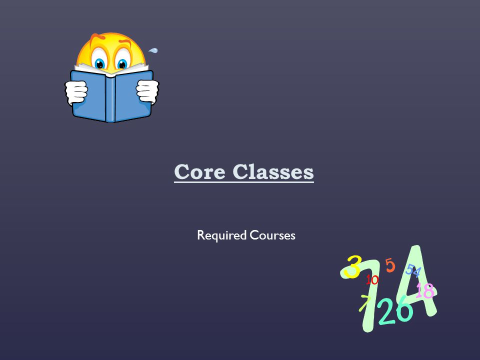 Core Classes Required Courses
