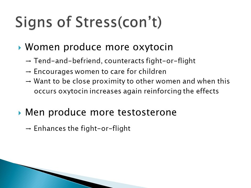 Signs of Stress(con't)