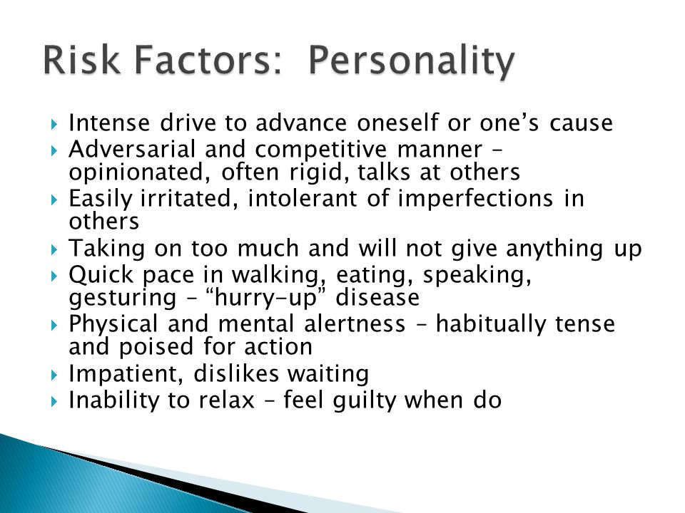 Risk Factors: Personality