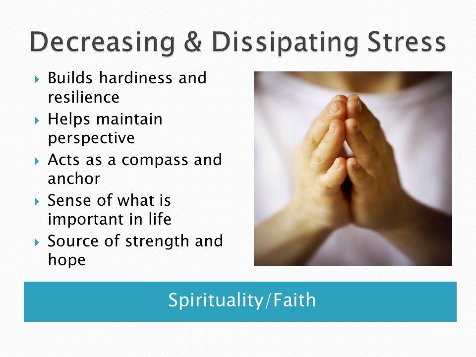 Decreasing & Dissipating Stress