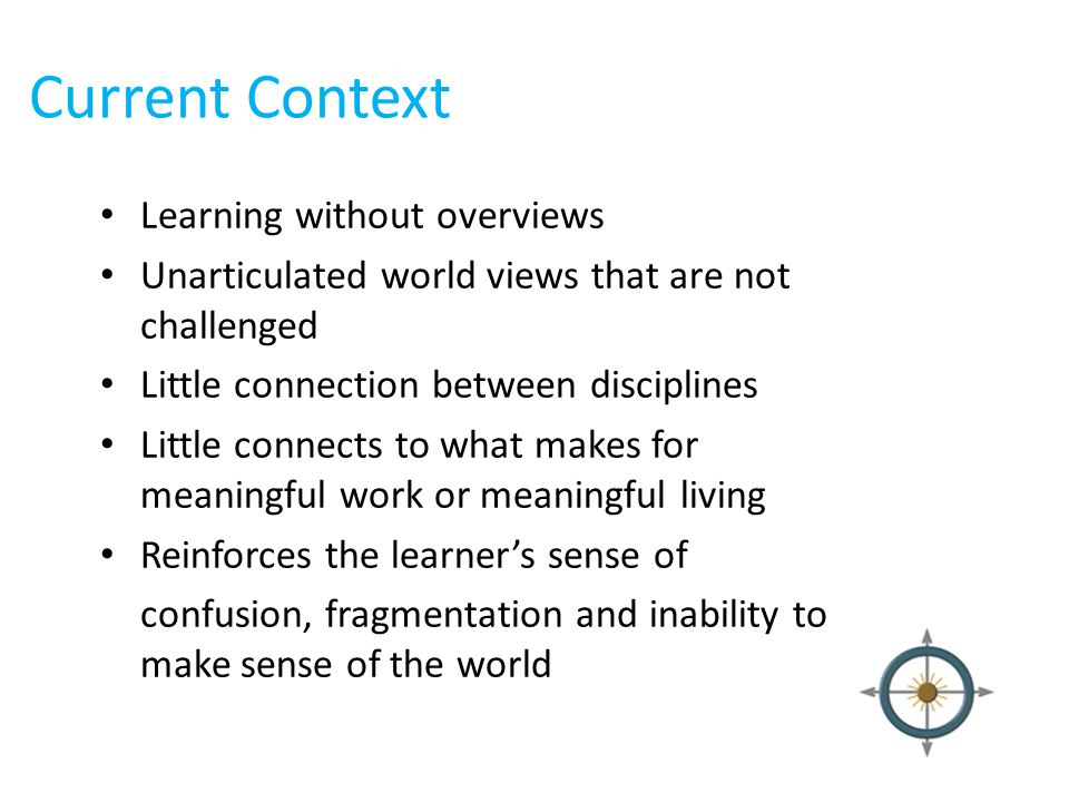 Current Context Learning without overviews